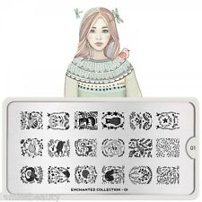 MoYou London Enchanted 16 Collection Stamping Schablone Schnee Herbst ranke
