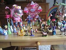 3 MY LITTLE PONY PONYVILLE COTTAGES - BIG LOT OF DISNEY CHARACTERS PVC FIGURES