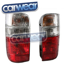 TOYOTA HIACE HI-ACE VAN 89-04 CLEAR RED LH+RH PAIR OF TAIL LIGHTS LAMPS CRYSTAL