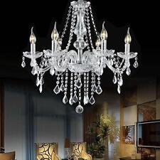 Elegant Crystal Chandelier Modern Ceiling Light Pendant Lighting Fixture 6 Lamp