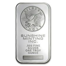 Sunshine Mint (Original Design) 1 oz .999 Silver Bar (Sealed)