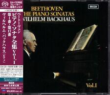 BACKHAUS BEETHOVEN PIANO SONATAS 1 SHM REAL SACD UCGD-9065/7 JAPAN LIMITED