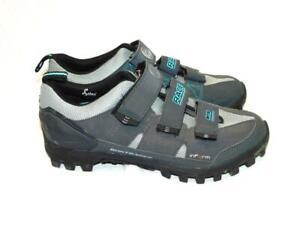 Bontrager Size 7 Race Mountain Bike Shoes MTB Inform Esole Gray Blue Womens