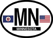 MINNESOTA STATE OVAL REFELCTIVE LAMINATED CAR STICKER NEW