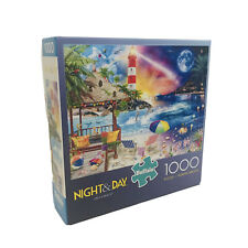 "Buffalo Games Night & Day ""Life's a Beach,"" 1000 Piece Jigsaw Puzzle w/ Poster"