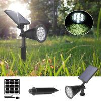 7 LED Solar Power Garden Lamp Spot Light Outdoor Lawn Landscape Path Lighting