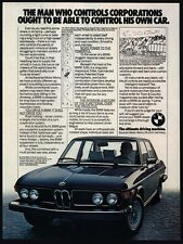1976 BMW 530i Black Luxury Car VINTAGE AD