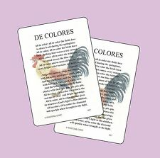 De Colores (Eng. Ver.)- 2 Verse Cards - SKU# 837