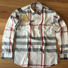 Burberry Men's Button Down Long Sleeve Cotton Shirt All Sizes