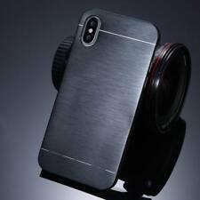 Shockproof Thin Brushed Metal Aluminium Hard Back Case For iPhone X 8 6 7 Plus 5