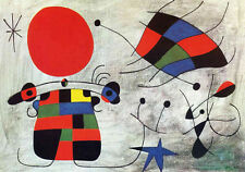 THE SMILE OF THE FLAMBOYANT WING Joan Miro - 70x100 cm Falso d'autore poster