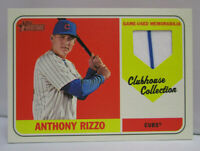 2018 Topps Heritage Baseball ANTHONY RIZZO Game Used Jersey Relic Card # CCR-AR