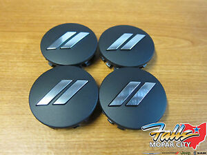 11-2020 Dodge Challenger Charger Dodge Logo Black Center Wheel Cap Set of 4 OEM