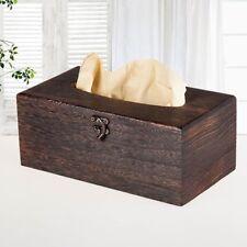 Home/Office Table Tissue Holder Cover Paper Napkin Case Wooden Tissue Box E7CX