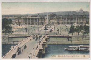France postcard - Paris - Place de la Concorde et le Seine - LL No. 710 (A175)
