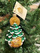 Patricia Breen Rock A Bye Baby Glass Glitter Ornament Nwt