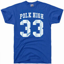 Al Bundy polk high vintage 80s football jersey 33 costume gift gym T Shirt Blue
