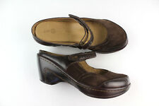 J-41 Adventure On Ocean Mary-Janes Slides Sz 7 Leather Shoes Sandals