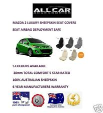 Sheepskin Car Seatcovers for Mazda 2 , Five colours, Seat Airbag Safe, 30mm TC,
