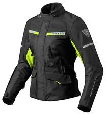 GIACCA DONNA LADIES MOTO REV'IT REVIT OUTBACK 2 TRE STRATI NERO GIALLO TG 44 48