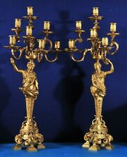 Antique French Gilt bronze candle holders from the 19th century