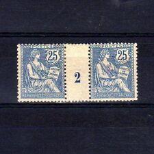 France Yvert n° 127 Paire millésime 2 neuf avec charnière