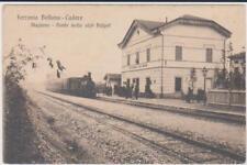 PONTE NELLE ALPI POLPET BELLUNO STAZIONE CON TRENO 1920 SUPER !