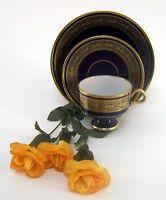 Sammeltasse DDR Lichte Porzellan 24 Karat Gold 1822 Echt Kobalt Fine China