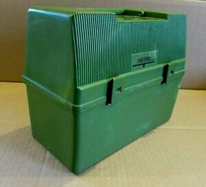 Vintage 1980's Thermos Avocado Army Green Plastic 5x8x10 Work Lunchbox FREE S/H