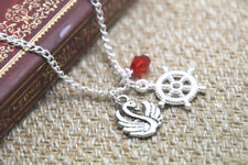 Once Upon A Time necklace Captain Swan charm inspired Neckace
