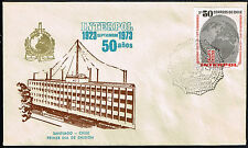 CHILE 1973 FDC COVER STAMP # 831 POLICE INTERPOL