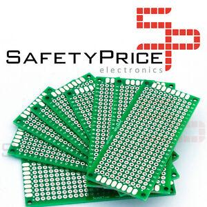 2 Placas prototipos doble cara 3x7cm DOUBLE-SIDE PROTOTYPE PCB FIBRA VIDRIO SP