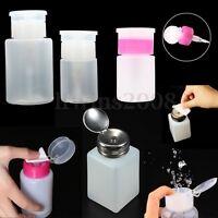 200ML Flacon Pompe Distributeur Dissolvant Bouteille Vide Ongle Liquide Nail Art