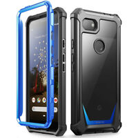 Poetic For Google Pixel 3a Case,Clear Back Shockproof Protective Cover Blue