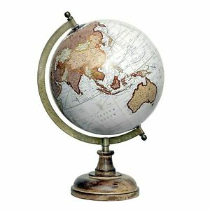 Educational Political Laminated Rotating World Globe with Metal arc