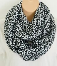 Striking Leopard Print Oversized Circle Loop Infinity Scarf Snood New Gift!