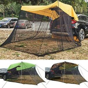 SUV MPV Car Trunk Rear Side Extension Tent Vehicle Canopy Awning W/ Mosquito Net