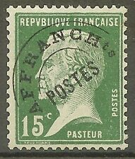 """FRANCE STAMP TIMBRE PREOBLITERE N° 65 """" PASTEUR 15c VERT"""" NEUF xx TB"""