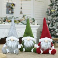 Christmas Faceless Gnome Santa Plush Dolls Xmas Ornament Toy Table Decor Gift