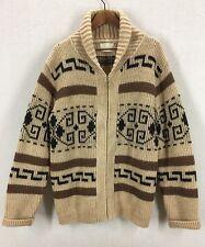 Vintage Pendleton Aztec Print Wool Lebowski The Dude Shawl Collar Sweater Sz L