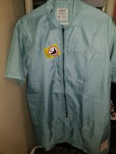 Fairplay Los Angeles Mens Activewear Top Shirt Blue Full Zip Usa L New