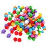 100Pcs/Bag Mini Sparkly Glitter Tinsel Pompom Balls Small Pom Ball Pet Cat Toys