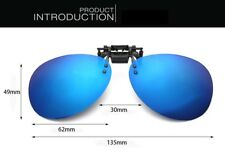 Flip up clip-on Over Glass Night Vision POLARIZED Sunglasses Myopia Lens New
