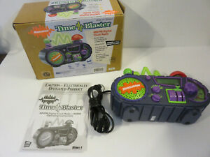 NICKELODEON TIME BLASTER AM/FM RADIO ALARM CLOCK BOXED COMPLETE 1996 VIACOM RARE