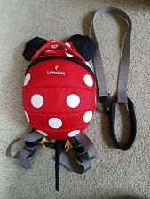 Baby Toddler Girls Littlelife Backpack Harness Reins Minnie Mouse Ladybird...