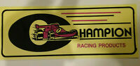 "Champion Racing Products - NEW Large Sticker / Decal  7 3/4"" x 3"" - Hard To Find"