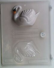 SWAN 3D CLEAR PLASTIC CHOCOLATE CANDY MOLD AO017