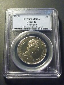 GEM: 1968 nickel dollar (normal island) PCGS MS-66, light cameo
