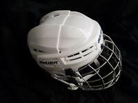 Bauer IMS 5.0 Hockey Helmet/Cage White/Black