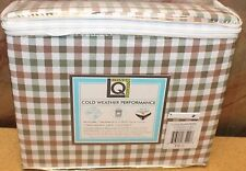 NEW LIVING QUARTERS QUEEN SIZE GINGHAM PLAID SOFT 4PC BED SHEET SET SHEETS